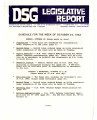 DSG legislative report, 1983-10-24 Report and Supplement