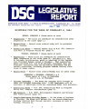 DSG legislative report, 1984-02-06 Report and Supplement