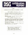 DSG legislative report, 1983-11-14 Reports and Supplements