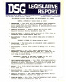 DSG legislative report, 1983-10-17 Report and Supplement