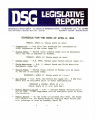 DSG legislative report, 1984-04-09 Report and Supplements