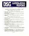 DSG legislative report, 1983-10-03 Report and Supplement