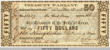 State of Texas Treasury Warrants for civil service, 1862-1864