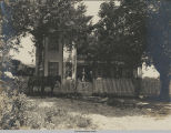 Ben Gibson Family in Front of Trinity, Texas, Home