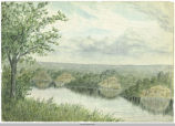 Water Color of a Pastoral Scene