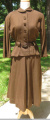 Two piece brown dress