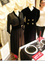 Black dress and coat