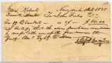 1838 Receipt for Purchase of Blankets
