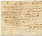 1835 Order for Ammunition