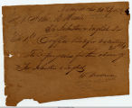 1836 Receipt for Coffee