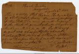 1838 Honorable Discharge from Texas Militia