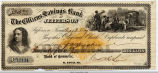 1877 Citizens Savings Bank Check