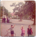 Central Europe Children with Bicycle