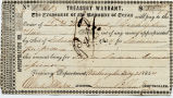 1844 Republic of Texas Treasury Warrant