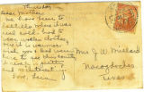 Postcard from Lera Millard Thomas to Mrs. J. W. Millard