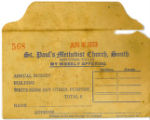 St. Paul's Methodist Church Donation Envelope