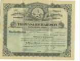 Thomas and Richardson Stock Certificate