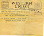 Western Union Telegram from Margaret Bailey