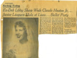 News Clippings on Sharp Wedding Announcements