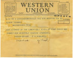 Western Union Telegram Wright and Hinojosu 1934