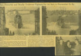Newspaper Clippings about the Launching of the U.S.S Shark and Breamer