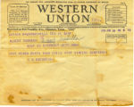Western Union Telegram from C. K. Richards 1934