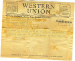 Western Union Telegram from Rosetta McGregor 1934