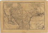 1790 French map of Texas and Mexico