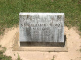 Malone, Mary Elizabeth Thomas