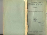 Plans for Vocational Education in Texas 1922-1927