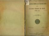 Examinations and Certificates and Outline Course of Study for 1924