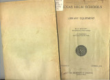 Texas High Schools; Library Equipment