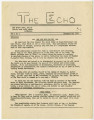 The Echo, Vol. 1, No. 1