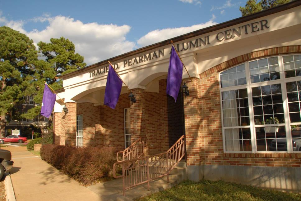 The front of the Pearman Alumni Center